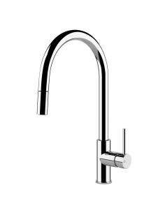 Gessi Oxygen 20573 Monobloc Mixer Pull Out Rinse Spray Chrome/Brushed