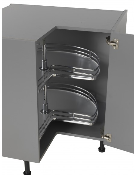 Kitchen Luxury 3/4 Carousel 900L Shape