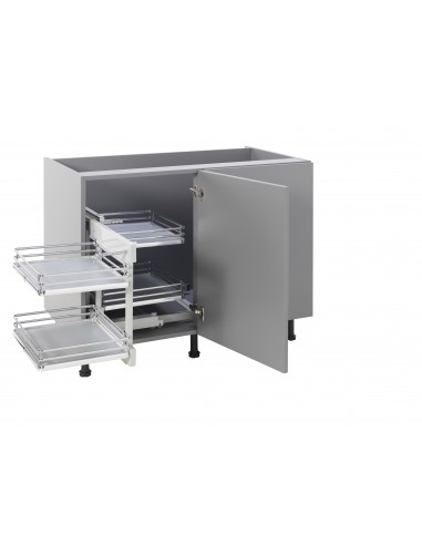 Blind corner optimiser kitchen pull out suits 900mm units for Kitchen base unit shelf