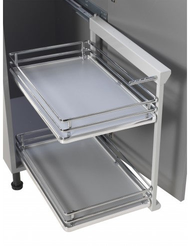 Ipb400 luxury base pull out for 400mm kitchen base units for Kitchen base unit shelf