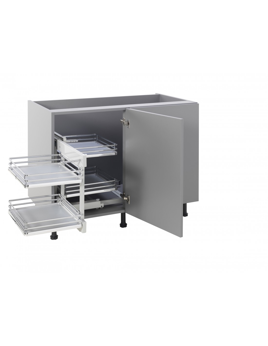 kitchen corner storage unit innostor 900mm corner optimiser for kitchen corner units 6624