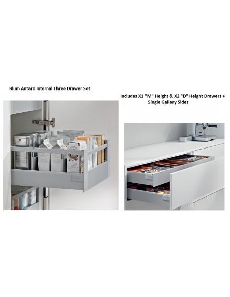 Three Drawer Set 1 x M & 2 x D Height Internal