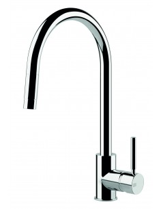 Gessi Oxygen 17120 Monobloc Mixer Swivel C Spout Pull Out Spray Chrome
