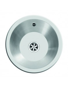 Clearwater Royal Mini Rinse Sink Round Bowl Brushed Steel