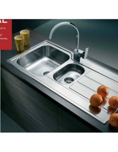Clearwater Mistral Single 1.5 Bowl Kitchen Sink Stainless Steel