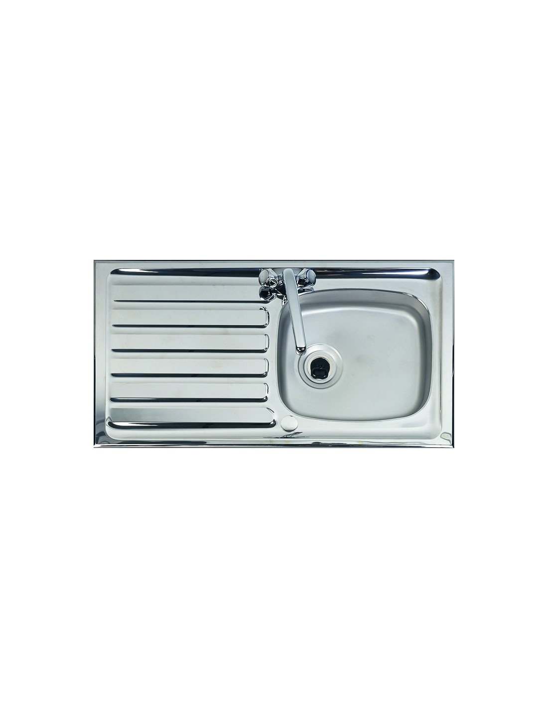 Shallow Stainless Steel Sink : ... Sink, Ideal For Disabled & Wheelchair users, Stainless Steel 1.0 Bowl