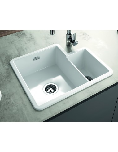 Metro By Thoms Denby MET1010 1.3 Bowl Ceramic Sink, Universal ...