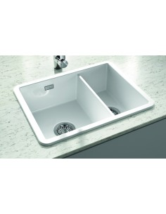 Thomas Denby Metro Ceramic 1.5 Bowl Kitchen Sink Top/Undermount