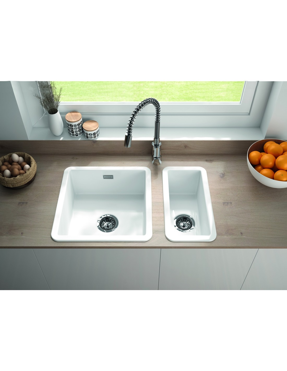Metro By Thoms Denby MET1040 1.0 Bowl Ceramic Sink