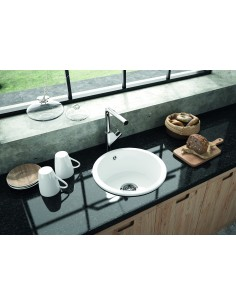 Thomas Denby Metro 1.0 Round Bowl Kitchen Sink Top/Undermount