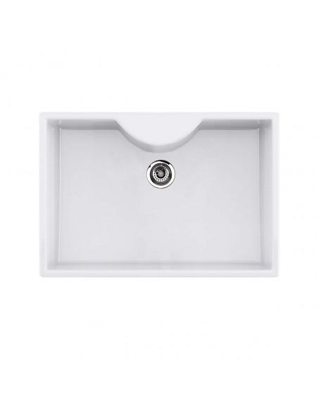 Thomas Denby Legacy 800 Butler Kitchen Sink, White Ceramic