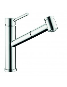 Clearwater Larissa LA2 Top Lever Tap Swivel Spout Pull Out Spray Chrome/Brushed