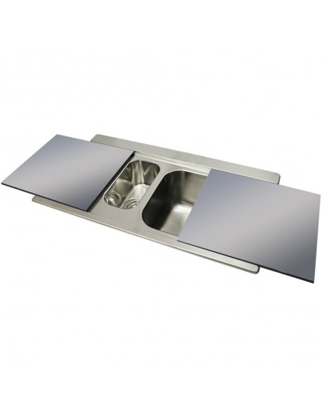 Clearwater Mirage MIR150 Stainless 1.5 Kitchen Sink & Glass Boards