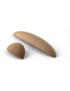 Wilton Cup Wooden Door Handle Oak Unfinished 32mm