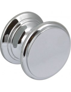 Clayton 30mm Knob Door Handle Polished Chrome/Brass