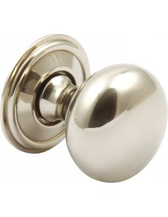 Bromley 32mm Knob Door Handle Polished Nickel