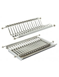 Stainless Steel Plate Rack For 500mm Kitchen Cabinets Holds 16 Plates