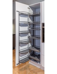 600mm Tandem Larder Kessebohmer Style Baskets 1700mm High