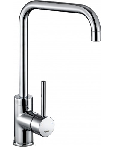 Cascata Square Modern Spout Tap Single Lever Side Chrome Brushed