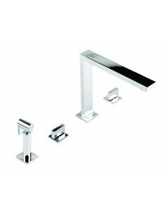 18/10 Novanta 4 hole Design Spray Kitchen Tap