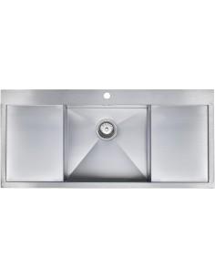 Zenuno 45I-F Single Bowl Double Drainer Sink