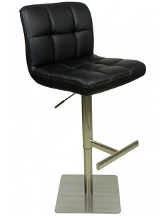 Bar Stool Deluxe Faux Leather & Brushed Square Five Colours