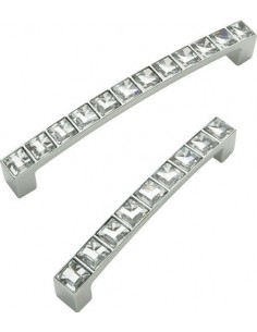 "Crystal Door Handles Swarovski Elements ""D"" Knob & Square"