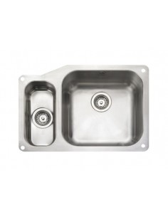 Rangemaster Atlantic Classic UB4015 1.5 Bowl S/Steel Undermount Sink & Waste