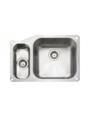Rangemaster Atlantic Classic UB4015 1.5 Bowl S/Steel Undermount Sink & Waste