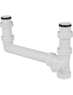 Double Bowl Sink Plumbing Kit For 2 Bowls - 1 Appliance