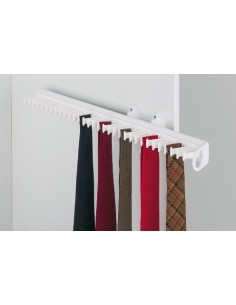 Pull Out Tie Rack For 32 ties, White Side Mount 520mm Length