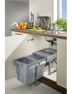 Ninka WasteBoy Pullout Bin Sink Base Units 2x16 Litres 400mm Min