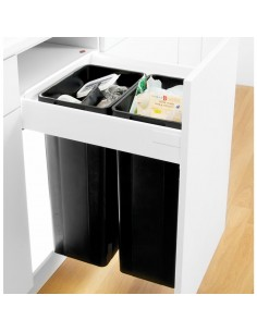 450mm Wesco Pullboy Z Waste Bin, 500mm Depth Blum Antaro