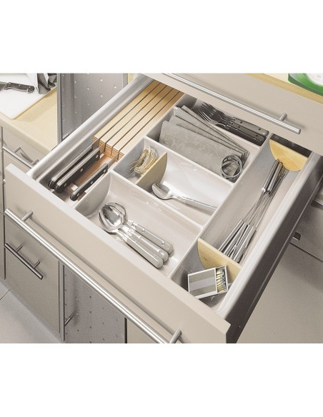 Kitchen Drawer Cutlery Tray Insert 300mm to 600mm x 600mm Depth