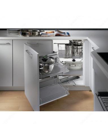 Kessebohmer original magic corner shelving suits 900 for Kitchen cabinets 1000mm