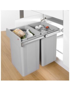Wesco Kitchen Pull Out Waste Bin Large 52L 400mm Hinged Doors