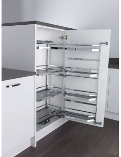 500mm Tandem Larder Kessebohmer Style Baskets 1100mm High