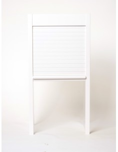 White Gloss Tambour Door Kit Suits  400mm X 1450mm