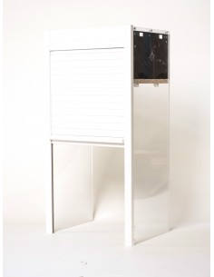 1450 x 500mm Tambour Door Kit White Gloss Vertical Opening