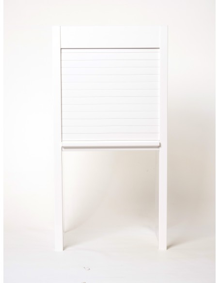 1450 x 1000mm Tambour Door Kit White Gloss Shutter