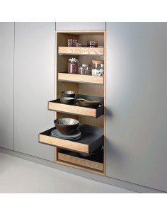 Peka 900mm Extendo Fioro Individual Shelve Storage Grey/Oak
