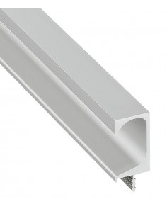 Profile Trim For Handle-less Doors Silver Anodised 2500mm