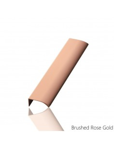 Edge Profile Door Handle Brushed Rose Gold