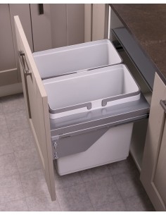600mm Ace Kitchen Double/Triple Waste Bin