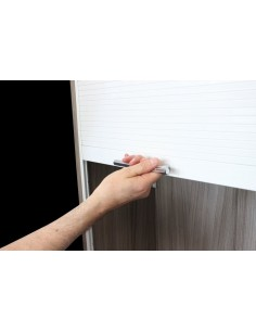720 x 600mm White Gloss Tambour Door Kit Shutter
