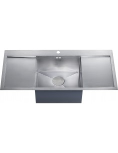 Zenuno 45I-F Single Bowl Double Drainer Sink