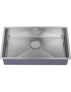 ZEN15 700U Modern Square Kitchen Sink 1.0 Bowl Flush/Under + Tidy