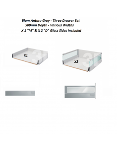 Blum Antaro X3 Drawer Pack 500mm Depth Grey Easy To Order