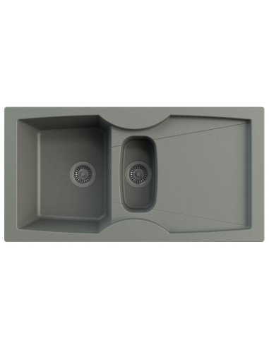 Graphite grey 1.5 bowl kitchen sink, quality, modern finish ...