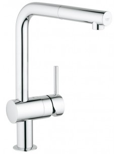 Grohe 30168 Minta Pull Out Spray Kitchen Tap Monobloc